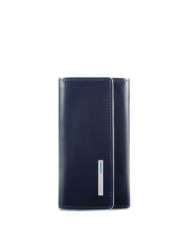 save off wholesale price closer at Piquadro collezione Blue Square portachiavi in pelle