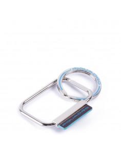Piquadro collezione Blue Square portachiavi in metallo e pelle