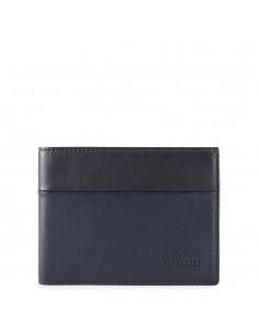 Herrenbrieftasche aus Leder  mit Klapp-Ausweisfenster, Münz- und Kreditkartenfächern und RFID-Blocker Urban kollektion Piquadro