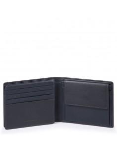 Herrenbrieftasche aus Leder mit Klapp-Ausweisfenster, Münz- und Kreditkartenfächern, RFID-Blocker Urban kollektion Piquadro