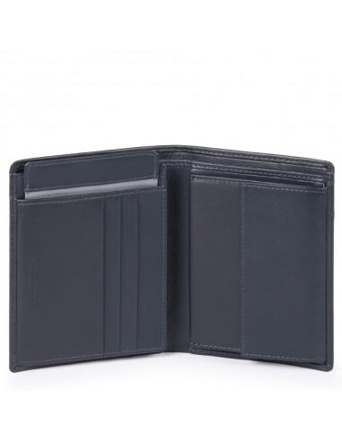 nouveau produit a7db3 deed1 Portefeuille en cuir pour homme avec porte-CNI amovible, porte-monnaie,  porte-cartes de crédit, antifraudes RFID Urban Piquadro