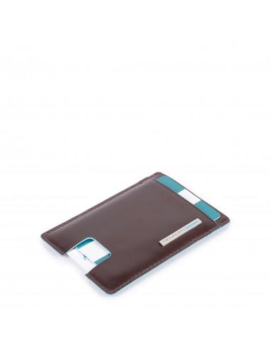 Piquadro Collezione Blue Square Porta Carte Di Credito Con Estrazione Facilitata