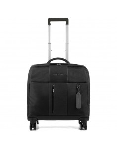 Piquadro collection Brief Trolley pilot in fabric and leather