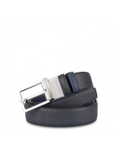 alta moda sulle immagini di piedi di forma elegante Piquadro Collezione AY cintura uomo in pelle doubleFace