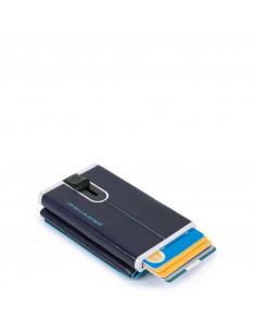 Portafogli compatto con portacarte di credito Piquadro Blue Square Blu