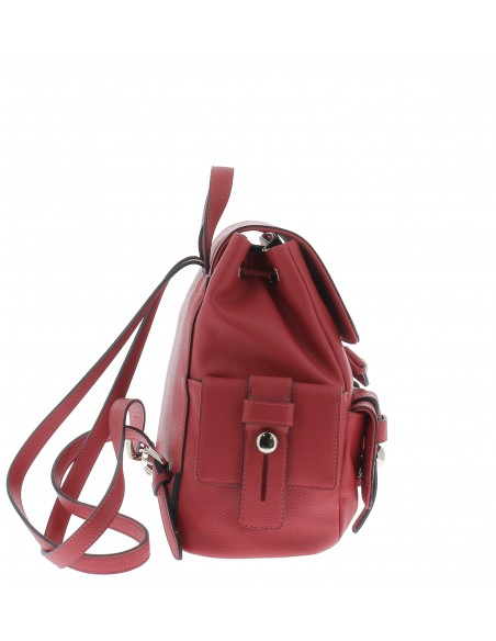 Love Moschino Women's backpack with pockets red lateral view