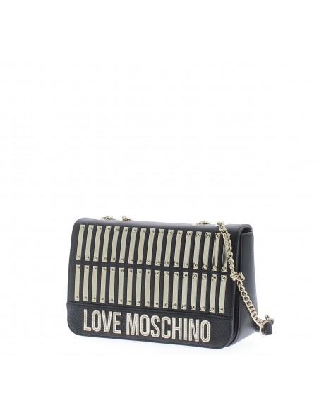 Love Moschino leather shoulder bag black details