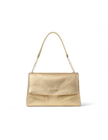 Braccialini Naomi leather shoulder bag gold