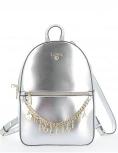 Pollini metallic backpack
