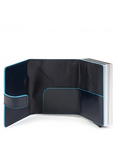 Portacarte di credito doppio Blue Square
