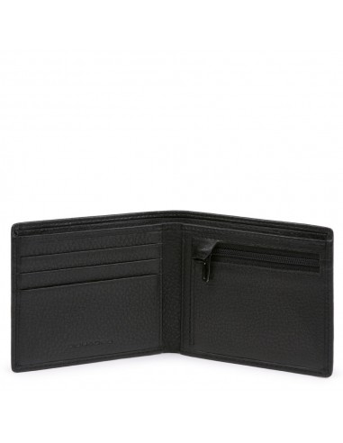Slim men's wallet  with zipped coin...