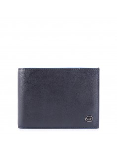 Billetero hombre con porta DNI desplegable, monedero, porta tarjetas de crédito y anti RFID B2 Special Piquadro