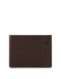 Men's wallet with flip up ID window, coin pocket a P15Plus Piquadro