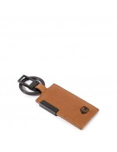 Piquadro collezione P15S portachiavi in metallo e pelle