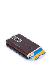 Compact wallet for banknotes and credit cards with sliding system